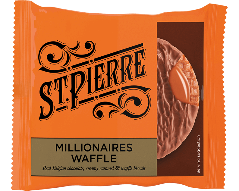 A St Pierre Millionaires Waffle inside packaging
