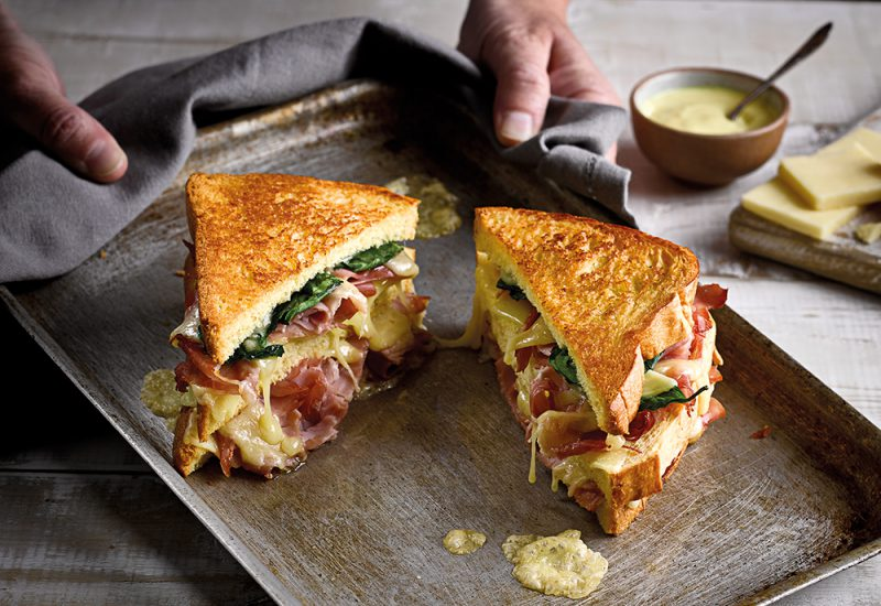 Ham & Melted Cheese Sandwich recipe using St Pierre Brioche Loaf