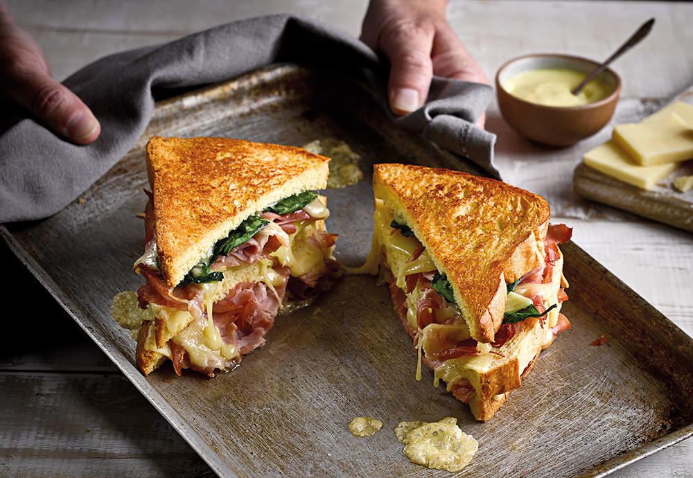 Ham & Melted Cheese Sandwich recipe using St Pierre Brioche Loaf