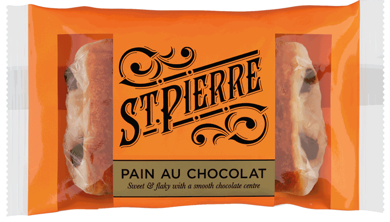 A St Pierre Pain au Chocolat inside packaging